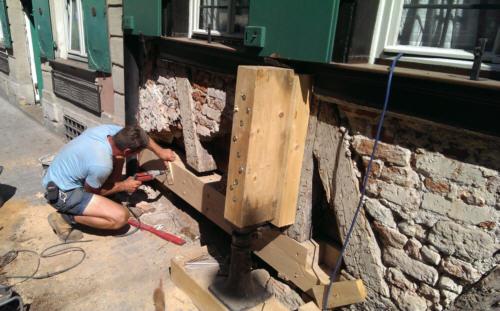 Fachwerk Renovieren schlenkerla außenfassade sanierung des sockels in 2013